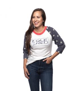 Ole Red Tishomingo Unisex Star Sleeve Raglan