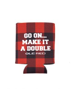 Ole Red Buffalo Check Can Cooler