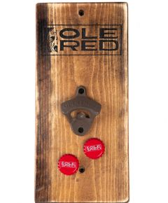 Ole Red Wooden Wall Mounted Bottle Opener