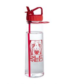 Ole Red Plastic Water Bottle with Straw