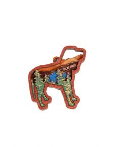 Ole Red Mountain Landscape Dog Ornament