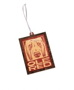Ole Red Wood Framed Logo Ornament